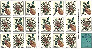 USPS Botanical Prints - Citron and Flowering Pineapple Booklet of Twenty 32 Cent Stamps Scott 3127a