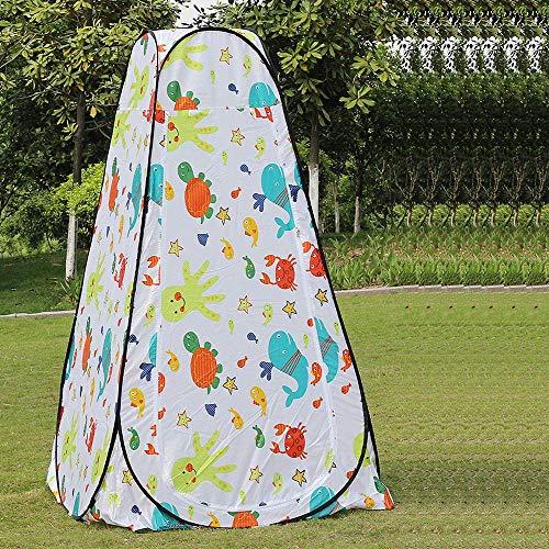 Zixin Pop-Up Show-Zelt for Ändern Dressing/Show/WC - Instant-Installation, faltbar, watproof, mit Tragetasche (Color : Floret)