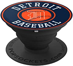 Detroit Baseball - Michigan Bengal Tiger Gift - PopSockets Grip and Stand for Phones and Tablets
