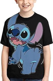 guoweiweiB Camisetas de Manga Corta para niño, STI-TCH Fart T-Shirt Clothes Child tee Shirts Junior