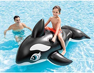 Svvsgf Bote Inflable para Piscina, PVC Agua Inflable para niños Montaje Creativo Orca Agua Juguete Verano Inflable Fila Flotante
