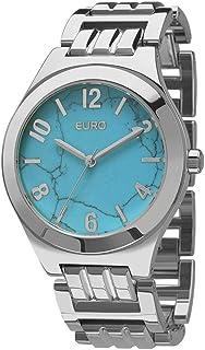 Relógio Feminino Euro Analógico Eu2033Ah/3A Prata