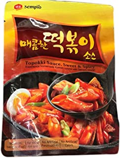 Korea 샘표 Sempio Korean Topokki Sauce Sweet and Spicy 떡볶이 Tteok-bokki Stir fry Rice Cake 韩国炒年糕辣酱 4.9oz - total of 4 units