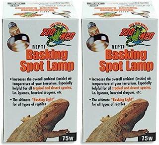 Zoo Med 2 Pack of Repti Basking Spot Lamps, 75 Watt