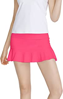 Meja Women's Tennis Skirt, Elastic Quick-Drying Active Performance Skort with Shorts for Running Golf Casual Skirt