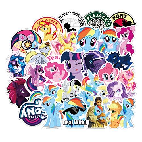 Nobranded 50 Stück My Little Pony Wasserdichte Aufkleber für Trinkflasche, Tasse, Laptop, Fahrrad, Skateboard, Gepäck, Box, Vinyl Graffiti-Aufnäher BRJKT a