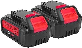 2Pack 4000mAh 20V for Dewalt DCB205 Battery, 2Pack Lithium-ion Replacement Battery for Dewalt dcb200 DCB204 DCB207 DCB205-2 DCB180 DCD985B DCD771C2 DCS355D1 DCD790B