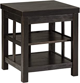 Ashley Furniture Signature Design - Gavelston Square End Table Rubbed, Black