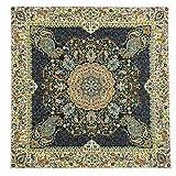 LPUK Tovaglia Afshari Collection SERIES4 blu scuro 100 cm × 100 CM circa quadrato in tessuto classico vintage modello
