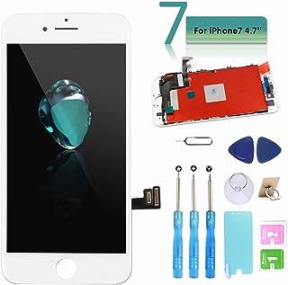 Ibaye - Táctil LCD Reemplazo para iPhone 7 4.7 Pantalla de Repuesto con Herramientas (Blanco)