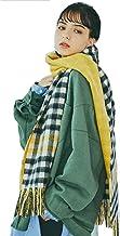 [ムーンバット] miel(ミエル) カシミヤ100% リバーシブルマフラー レディース チェック イエロー 42467 [幅約40cm 長さ約200cm]【防寒対策・洗えるカシミヤ・お手入れ簡単】