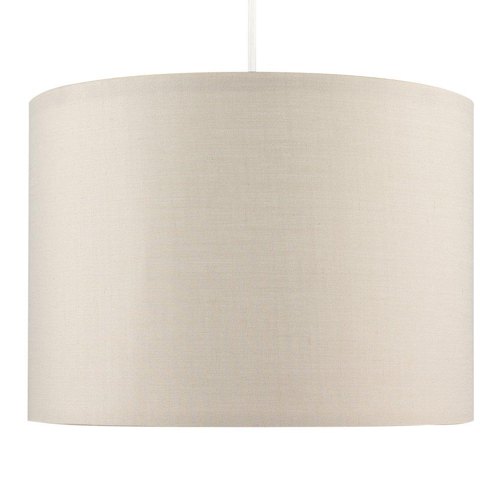 MiniSun – Moderna Pantalla Cilíndrica– Lámparas Techo o Mesa – Gran Dimensión - Tela Crema – iluminación Interior: Amazon.es: Juguetes y juegos