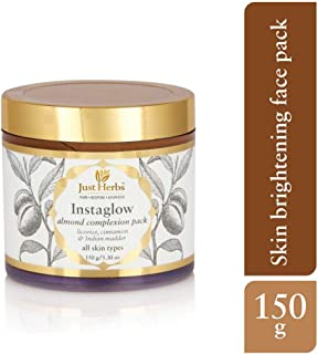 Just Herbs Instaglow Almond Complexion Pack, 150g (Paraben and SLS Free)