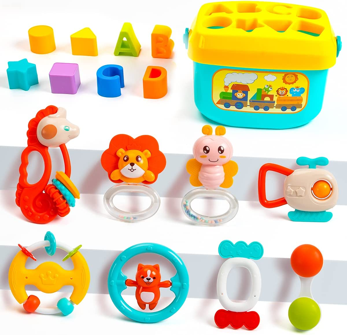 UNIH Popularity List price Baby Toys Rattles Set Graspi Infant Grab and Spin