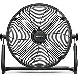 Pro Breeze Ventilador de Piso Recargable de 40cm: Duración de la batería de 3-24 Horas, Cabezal del Ventilador Ajustable, Puerto USB para Dispositivos de Carga. Silencioso, Ligero y portátil