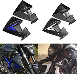 XX ecommerce Motocicleta Protector de la cubierta de la parrilla del protector del radiador de la para 2014-2018 Yamaha MT FZ 07 FZ-07 MT-07 2015 2016 2017 Negro