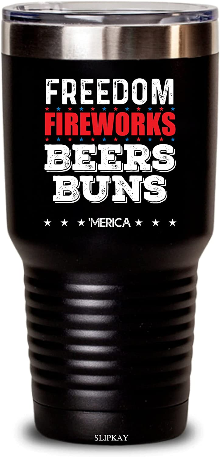 Freedom Fireworks Beers Buns Tumbler 30oz Gifts SALENEW very popular! 5% OFF