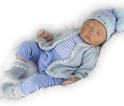 Buxuxbue Lebensecht Baby Puppe Vinyl Kit Silikon Baby Puppen Für Kinder Playmate Geschenk Schlafen Mit Geschlossenen Augen Wird Nicht Blinken