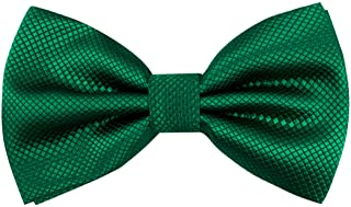 Men's Solid Formal Banded Bow Ties Pre-tied