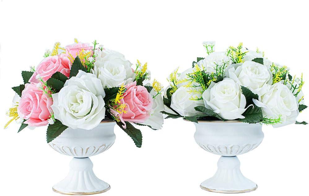 luxury retro table vases decoration vases 2 pieces Mini Household metal flower vases wedding centerpieces