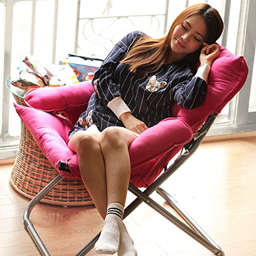 YLLXX Creative Paresseux Unique Canapé Chaise Loisirs Chaise Pliante Dortoir Ordinateur Chaise Maison Chambre Balcon Minimaliste Moderne Inclinable (58 * 66 * 91 Cm)