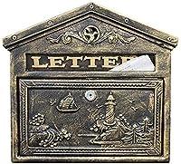 ヨーロッパのフロントプレートの鋳鉄のヴィラのレターボックスの半屋外の屋外防水壁新聞ボックスクリエイティブメールボックスメールボックスメールボックスメールボックス