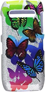 Mybat Protector Cover for Blackberry 9100 - Retail Packaging - Butterfly Garden