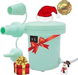 Portable Electric Air Pump, Inflator/Deflator Electric Pump, Pool Float Pump, Air Mattress Pump 120V AC for Inflatables Mattress Bed Lake Floats Rafts Pool Toys (Aqua)