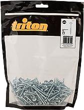 Triton 447177 verzinkte zakgatschroeven met schijfkop en grove schroefdraad 8 x 1 1/2 inch, 250 stuks, zilver