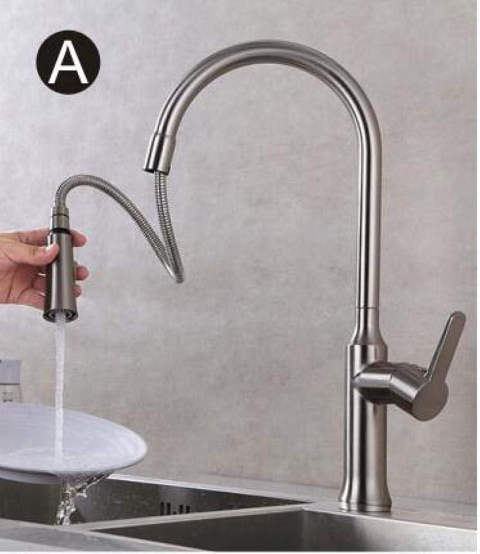 XiaoHeJD Spülbecken Wasserhahn Einhebel hei und kalt Torneira Nano Nickel gebürstet Moderne Wasserhahn Swivel Mixer Sink Wasserhahn, Nickel gebürstet