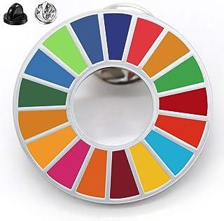 SDGs バッジ ピンバッチ バッヂ 高級 SDGs ピンバッジ 珐琅彩 最新仕様 ピンバッジの留め具 銀色1個 人気 おしゃれ ギフト TSDG