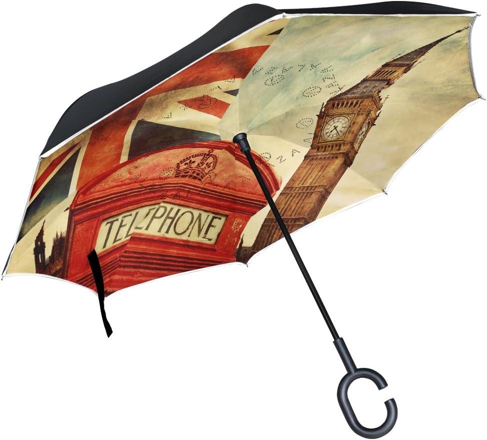 ALAZA Inverted Umbrella Large Double Car overseas Rain Outdoor quality assurance Layer Sun