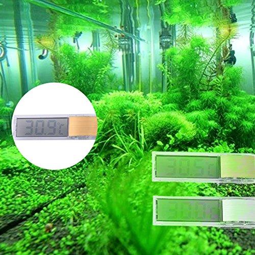 Hjuns® 3D numérique Thermomètre électronique en verre pour aquarium réservoir de poissons