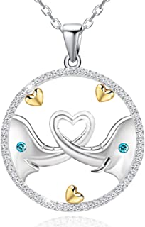 925 Sterling Silver Lucky Elephant Love Heart Necklace...