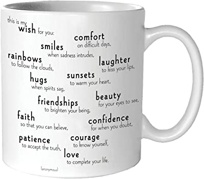 Quotable My Wish For You - Anonymous Mug - Quotes Kitchen Home MUG-G158-QUOTE by Quotable Cards