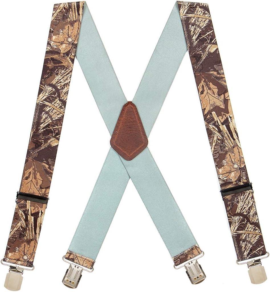 SuspenderStore Men's CAMO MAX 2-Inch Wide Pin Clip Suspenders