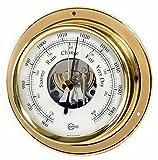 Barigo Marine Schiffsbarometer Tempo Messing -