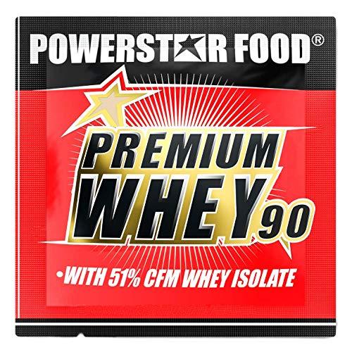 PREMIUM WHEY 90 | 90% Protein i.Tr. | 51% CFM Whey Isolat | Protein aus Weidenmilch | Nur 1% Kohlenhydrate | Ideal für Muskelaufbau & Abnehmen | Deutsche Herstellung | 30g Probe | Chocolate