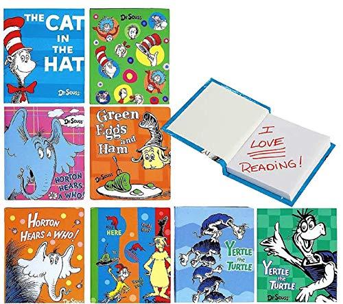Dr. Seuss Little Blank Memo Pads Notebooks (3' x 2.5') Complete Party Bundle - 8 Pack