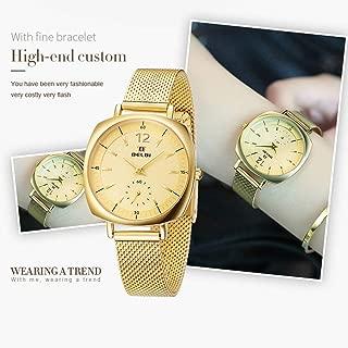 Wangyr Women's Watch Sleek Minimalist Business Quartz Watch/Stainless Steel Strap/Waterproof Watch/Good Material, High Quality Unique Fashion Classic Casual Luxury Business Dress