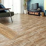 フロアタイル 貼るだけ フローリングタイル [72枚セット/No.3ラフソーンオーク] 約6畳用分 木目調 接着剤付き DIY 床材 簡単 フロアーマット
