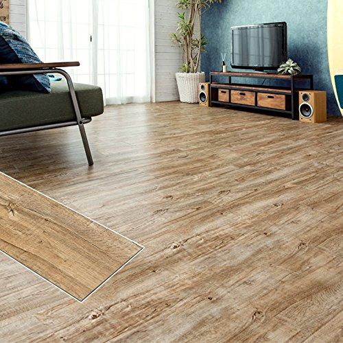 フロアタイル シート 貼るだけ フローリングタイル [72枚セット/No.3ラフソーンオーク] 約6畳用分 木目調 接着剤付き DIY 床材 簡単 フロアーマット