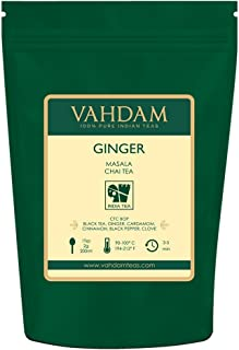VAHDAM, Ginger Masala Chai Tea (100 Cups) | 100% NATURAL SPICES | Authentic Indian Ginger Tea | Spiced Chai Tea Loose Leaf | Brew Hot Tea, Iced Tea or Chai Latte | 3.53oz (Set Of 2)