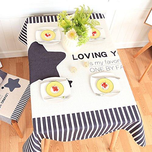 BLUELSS Simple moderne table cloth , épaissie nappe table ronde table table basse en tissu,photo,100*140cm