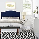 Dorel Living Winsted Linen Full/Queen Headboard with Nailheads, Navy