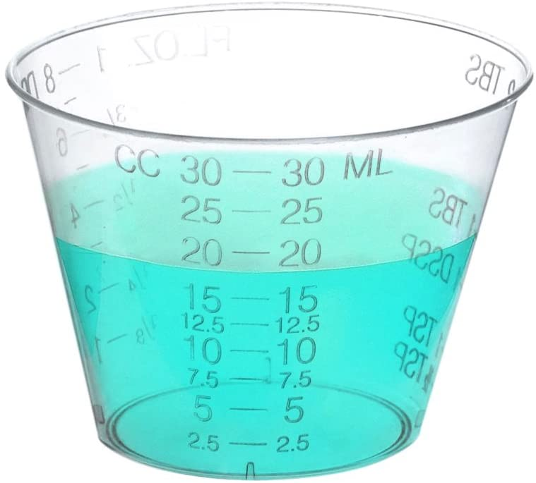 Amazon Com One Ounce Medicine Cups For Measuring Liquid And Pills In Ounces And Drams And Ccs 100 Kitchen Dining