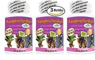 The Best Premium Kaempferia Parviflora 500mg 3 Bottle 300 Capsules Black Ginger Krachai Dum Original from Thailand