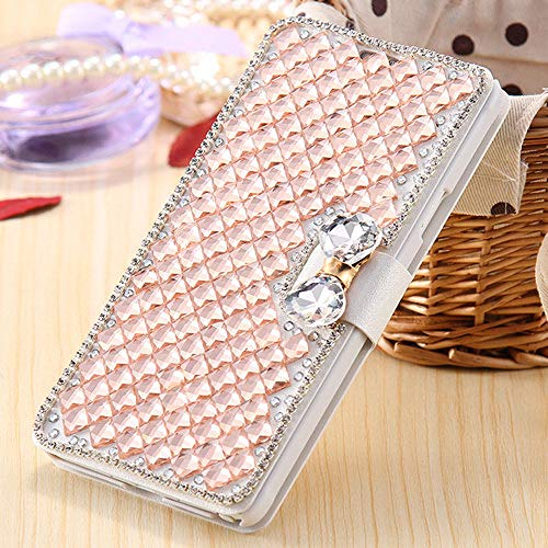KKAAVV bling strass diamant telefoonhoes voor iPhone 11 Pro Max XR X 5 5s 6 6s Plus 7 8 Plus portefeuille leer flip cover, Für iPhone X, champagne