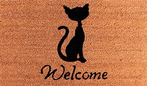 1art1 Chats Paillasson Essuie-Pieds - Welcome (70 x 40 cm)