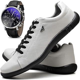 Kit Sapatênis Sapato Casual Masculino Com Relógio JUILLI 920DB